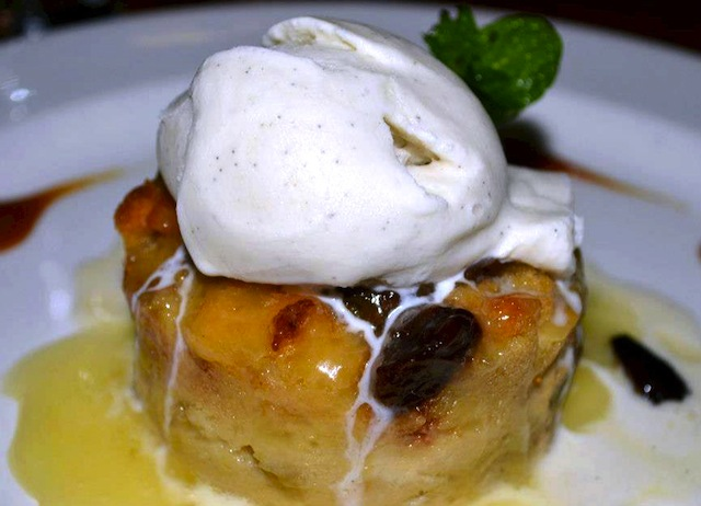warm bread pudding