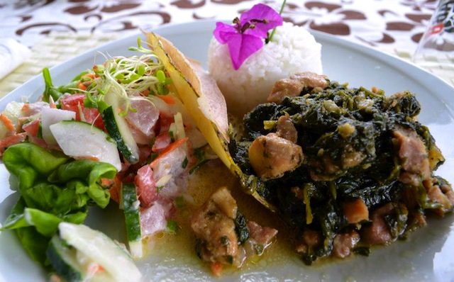 Meal at Relais de la Maroto