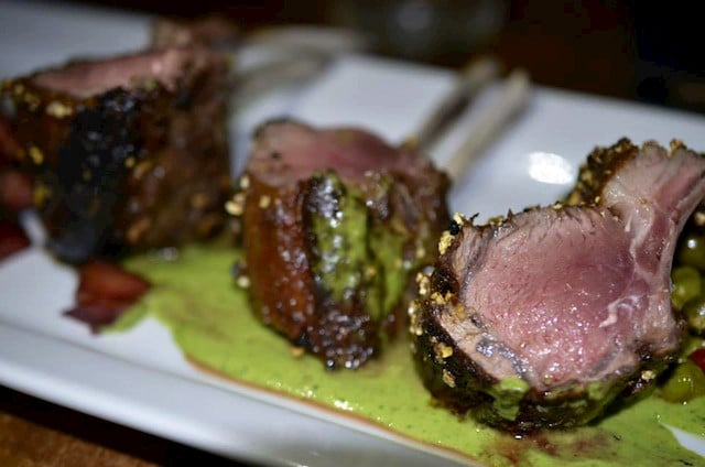 Foie Gras-Crusted Rack of Lamb