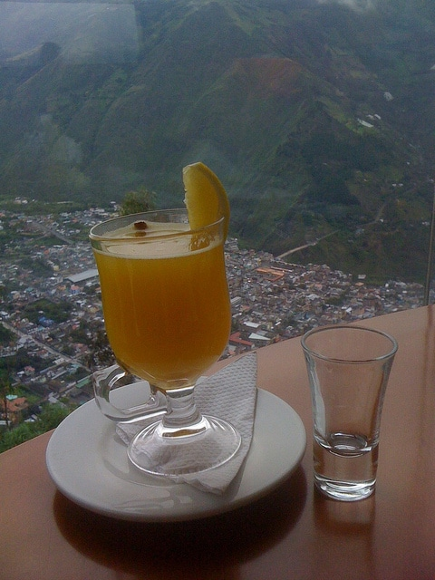 Sipping Canelazo in Banos, Ecuador, about 180 kilometers outside of ...