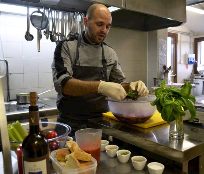 Chef Francesco cooking
