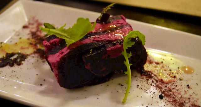 A Beet and Goat Cheese Terrine from Freestyle Cuisine