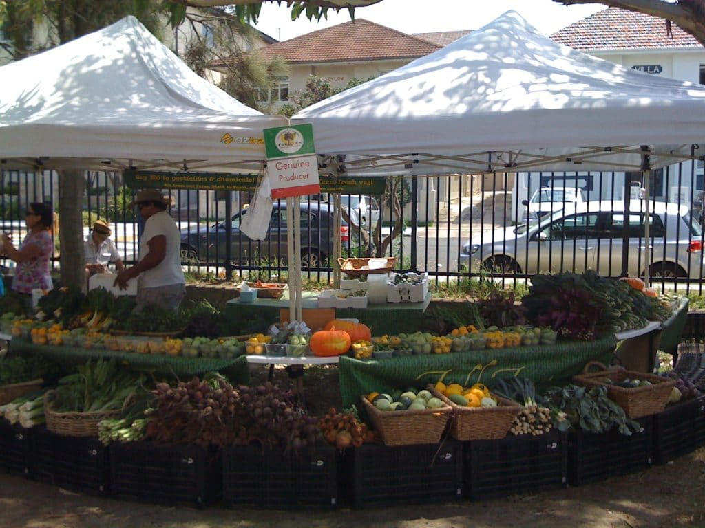 Bondi Farmer's Market.