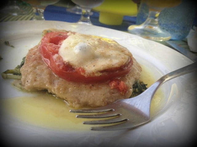 Scaloppine all Sorentina.  Photo courtesy of Jessica Yeager.