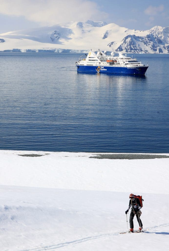 Cross-Country Ski in Antarctica on an Ocean Diamond cruise.