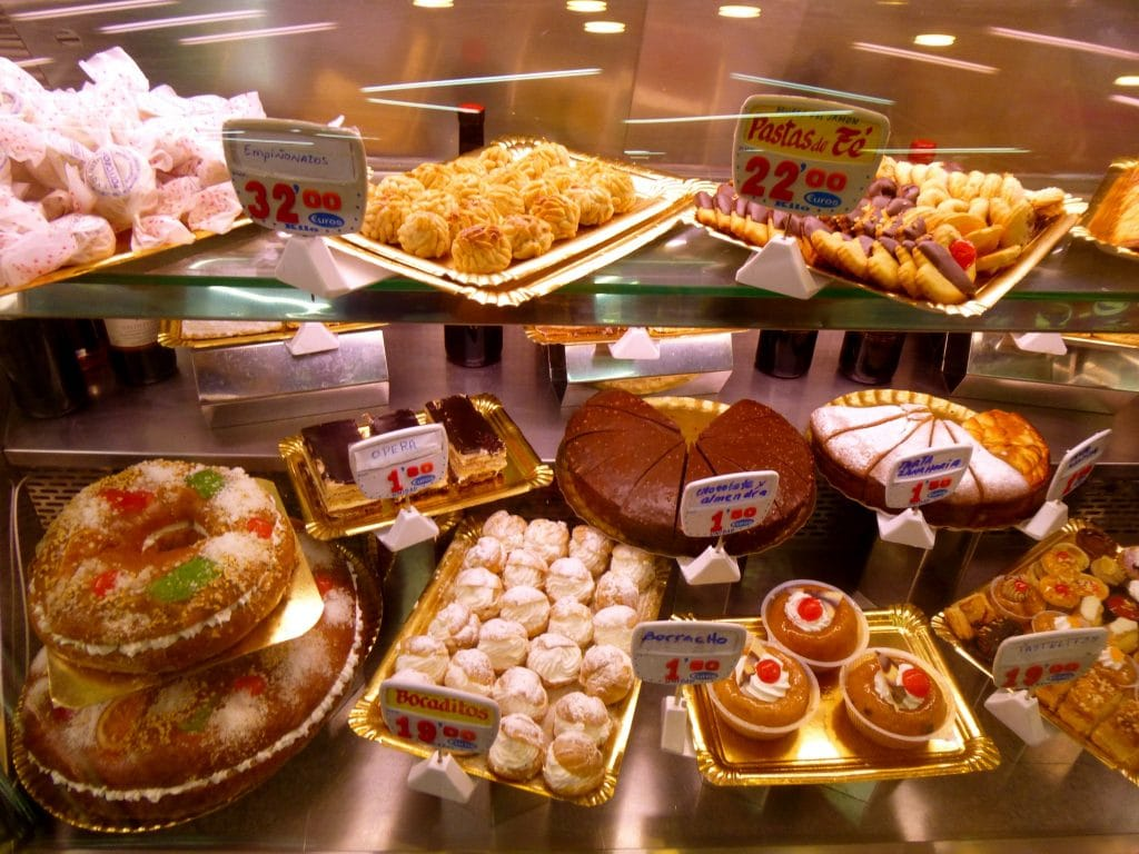 Spanish desserts and pastries at Museo de Jamon.  Photo courtesy of Katie Foote.