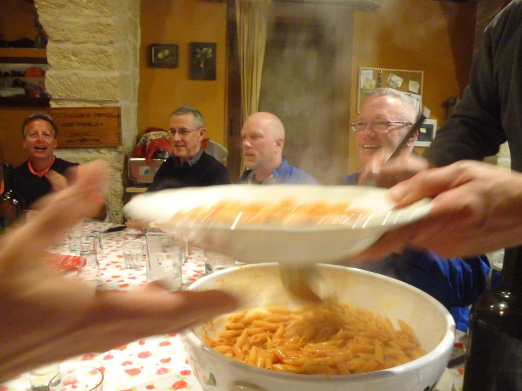 Pasta for Dinner at Villa Cappelli in Puglia, Italy