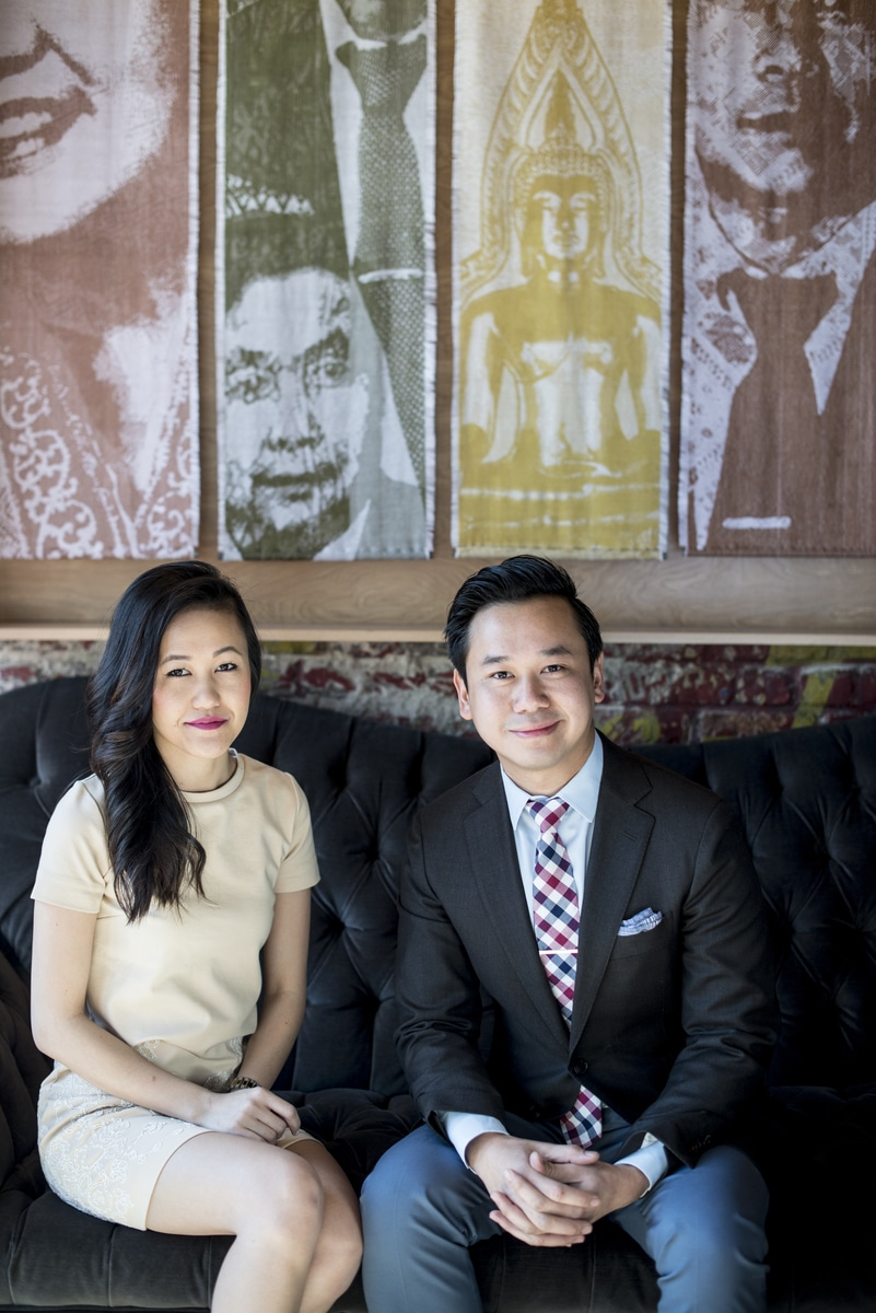 Owners and siblings, Vanvisa and Van Nolintha, at Bida Manda Laotian Restaurant in Raleigh, NC.