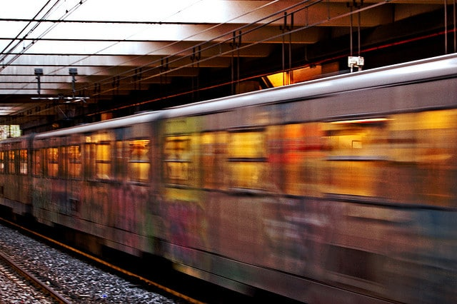 Night train.  Photo courtesy of Fabiana.