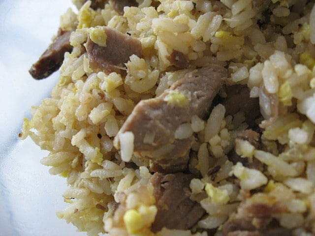 prime rib garlic fried rice