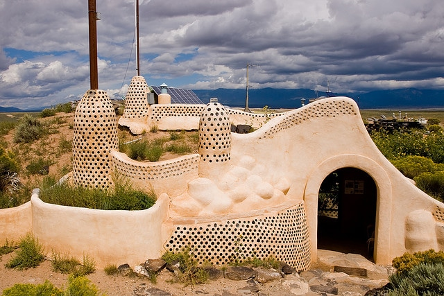 Earthship Visitor Center, New Mexico.