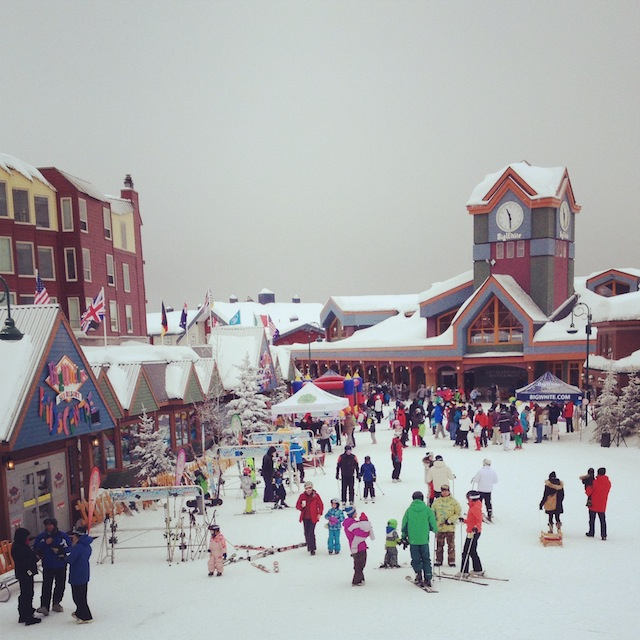 10) Living in a completely ski-in ski-out village