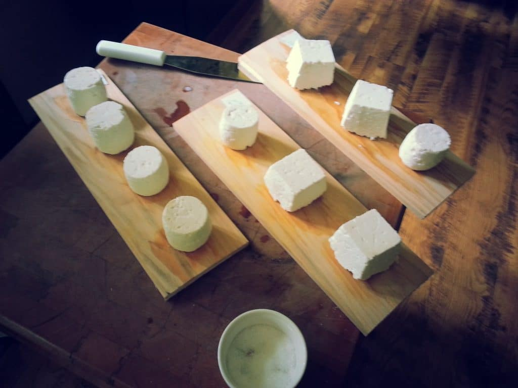 Cheese-making at Trevin Farms, Vermont. Photo courtesy of Trevin Farms.