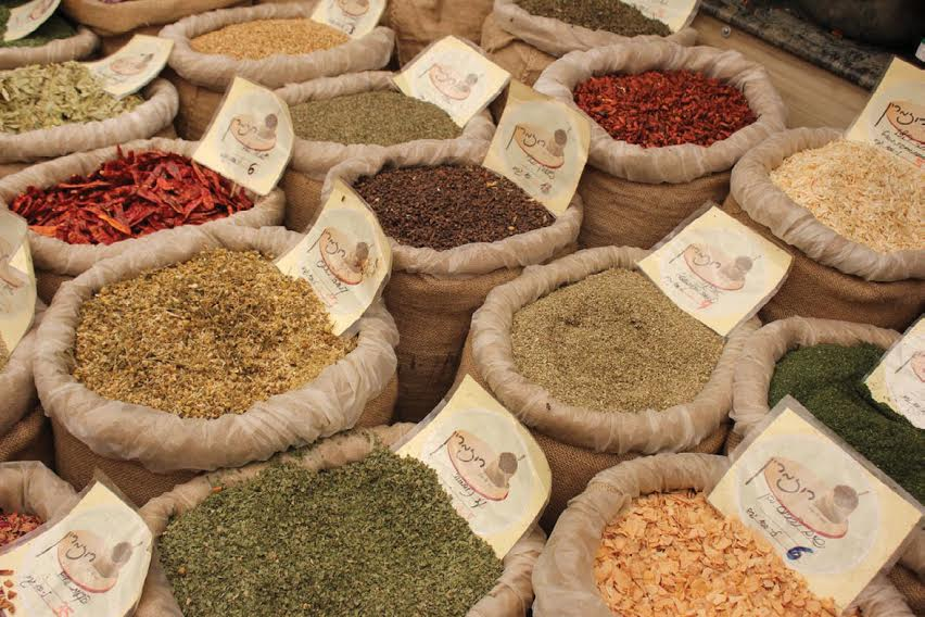 Spices in Israel market.