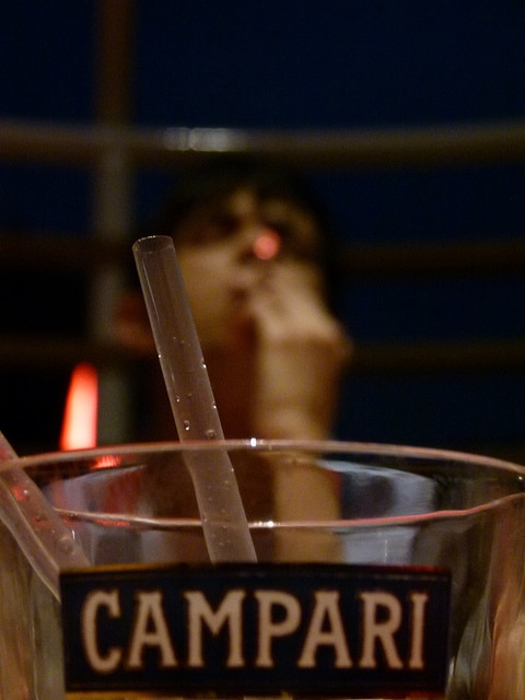 Campari is a typical drink enjoyed during aperitivo.  Photo courtesy of Massimiliano.