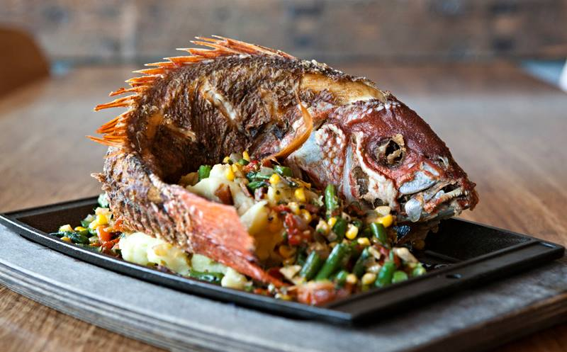 Whole Fish at Spike's Bar and Restaurant, San Diego.