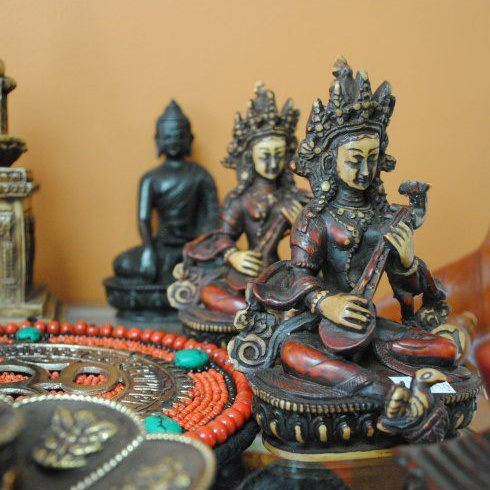 Statues in Tibetan Himalayan Gift Shop, Cary, North Carolina