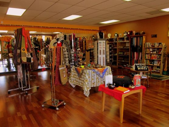 Interior of Tibetan Himalayan Gift Shop, Cary, North Carolina.