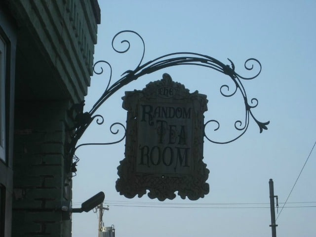 Antique Sign for a Tea Room.