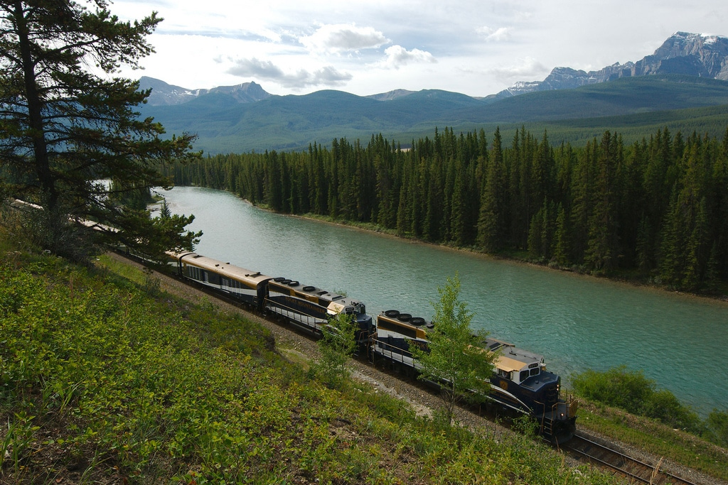 The Rocky Mountaineer. Photo courtesy of Sébastien  Launay and Flickr.