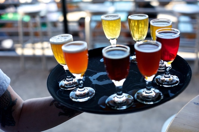 Cascade Ale House Sour Beer Sampler. Photo courtesy of Torsten ...