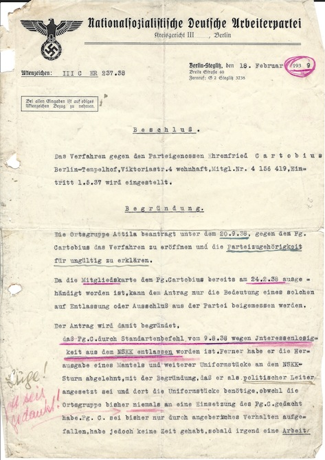nazi letter
