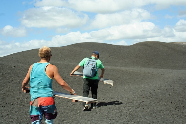 Making our way to Cerro Negro's summit