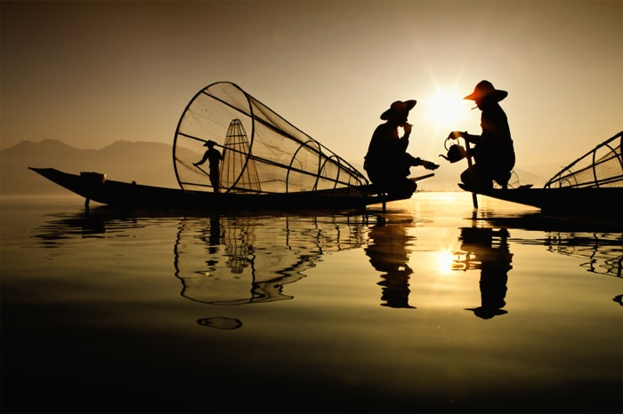 Tea for Two Lake Inle Myanmar. Photo courtesy of Luminous Journeys.