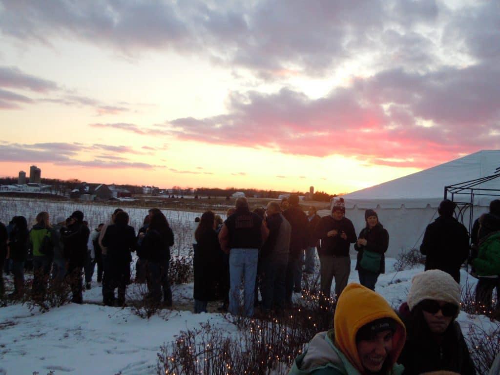 Sunset - Frozen Tundra Wine Fest - Parallel 44 Winery