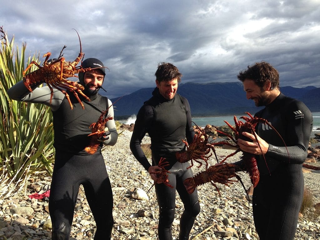 Learn how to catch and cook crayfish over a beach barbecue in Fiordland National Park, New Zealand