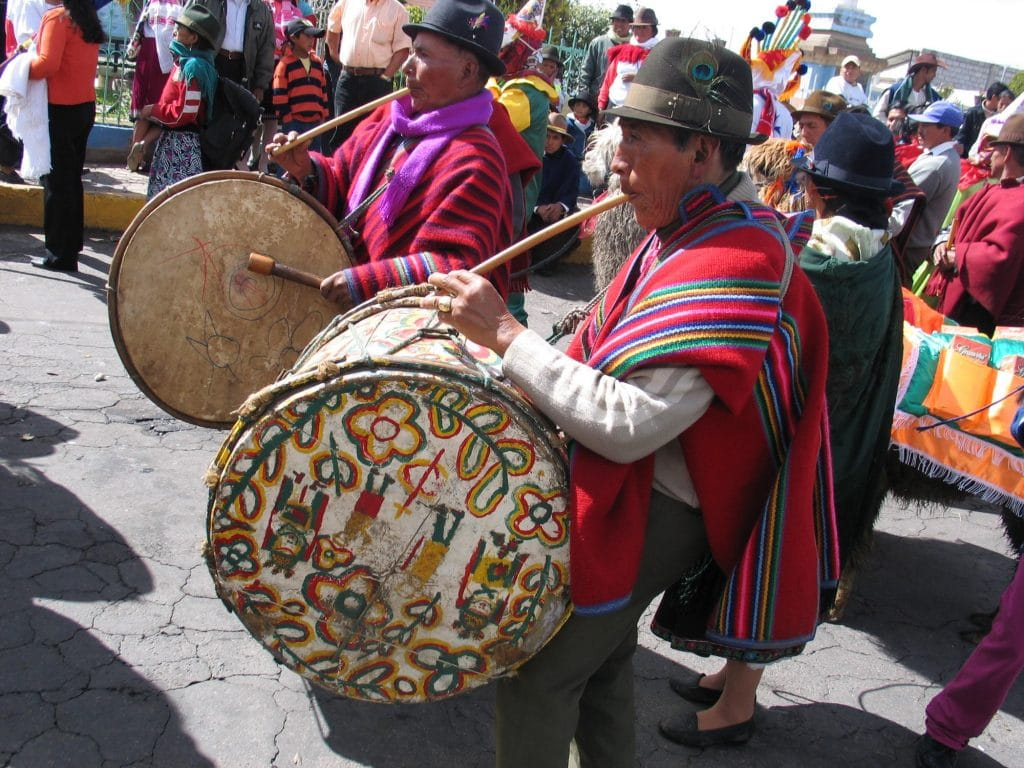 Corpus Christi Harvest Celebration in Celebrate The Harvest in Pujilí, Ecuador. Photo courtesy of Adventure Life.