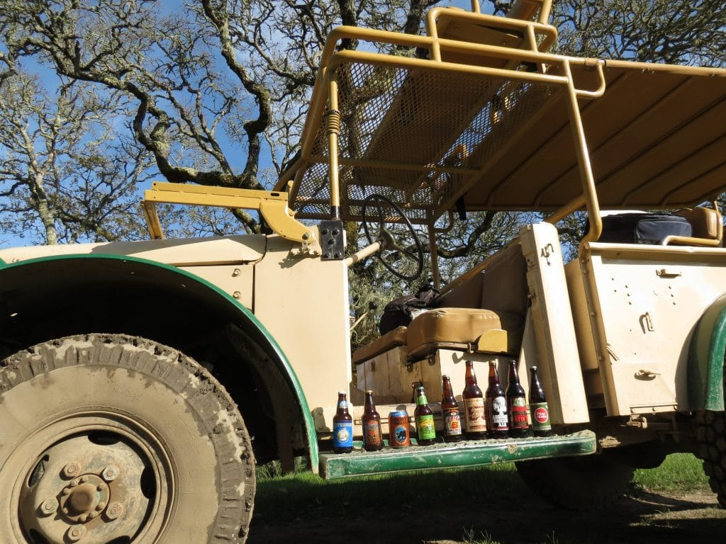 Beers featured throughout the Safari. Photo courtesy of Safari West.