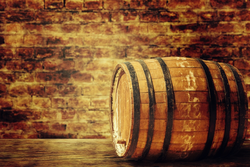 Beer barrel. Photo courtesy of IgorAleks via shutter stock.
