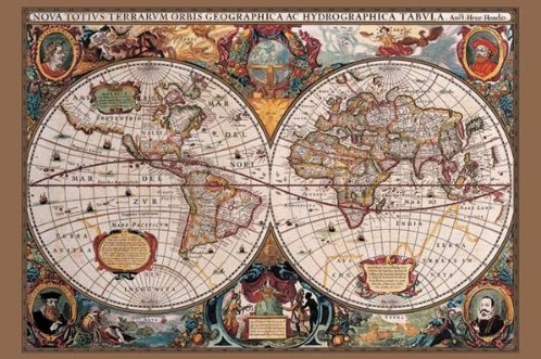 17th century world map poster print epicure culture epicure 17th century world map poster print epicure culture epicure culture gumiabroncs Gallery