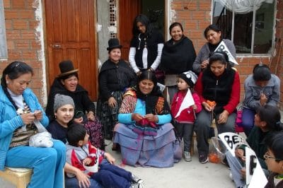 bolivian artisan women with beyondBeanie