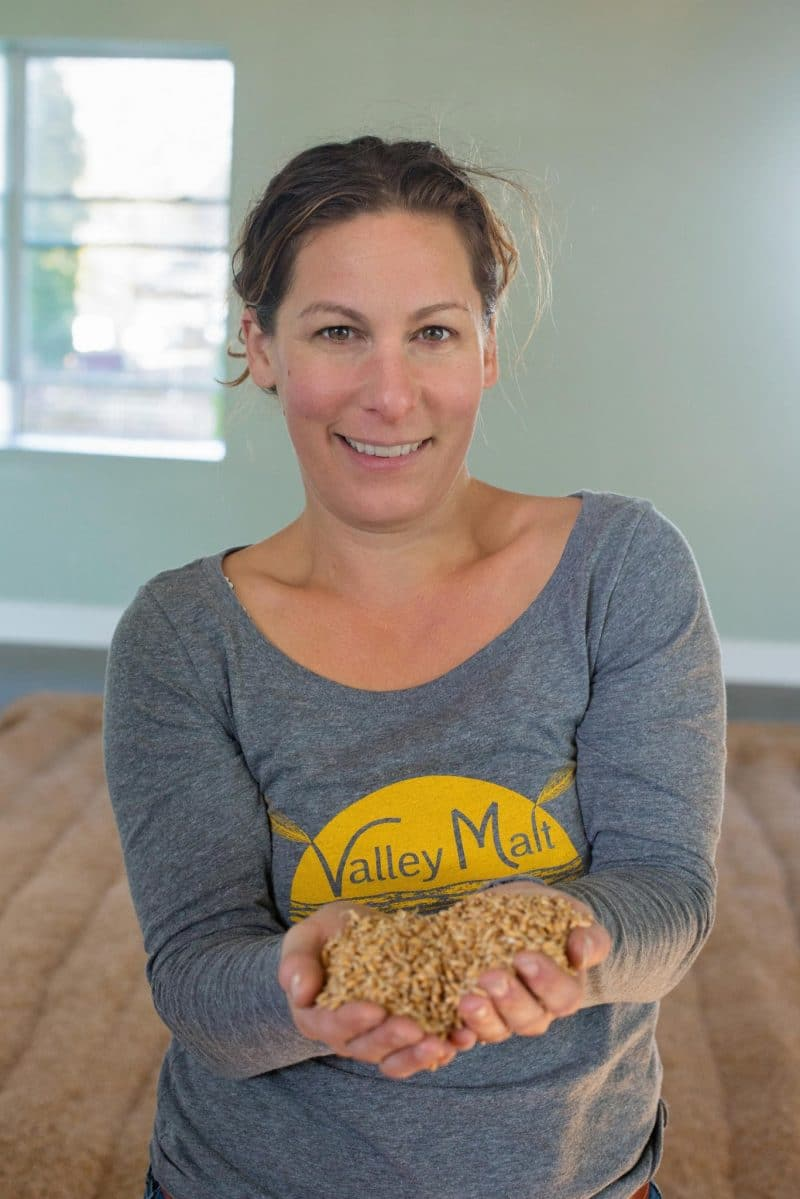 Andrea Stanley of Valley Malt. Photo courtesy of Valley Malt.